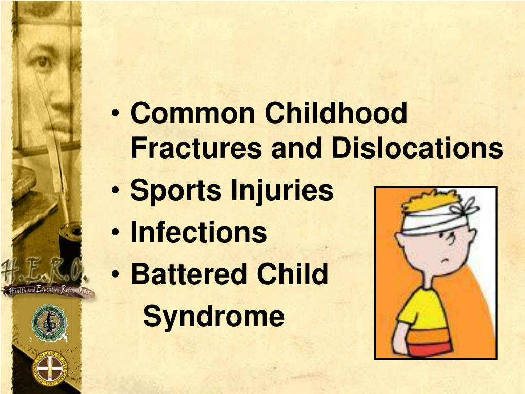 Common Childhood Fractures and Dislocations