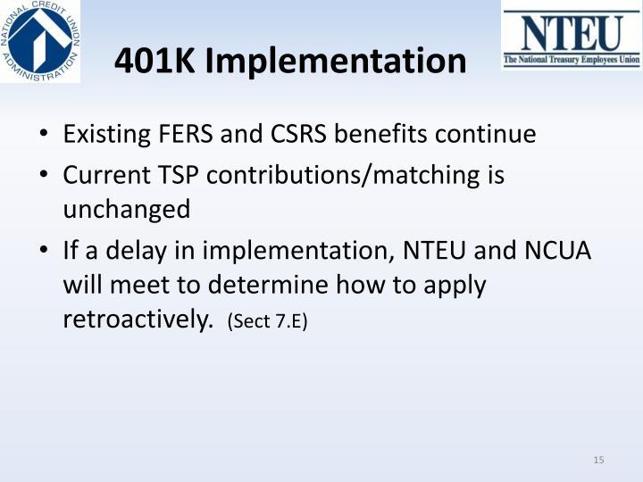 401K Implementation