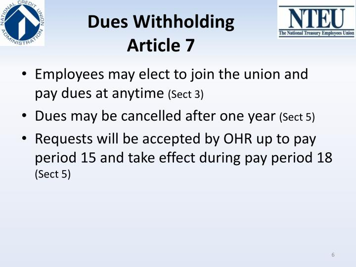Dues Withholding