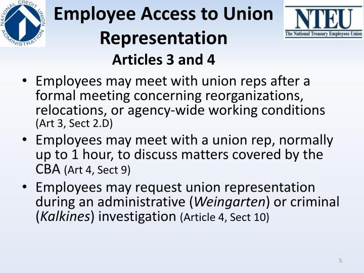 Employee Access to Union