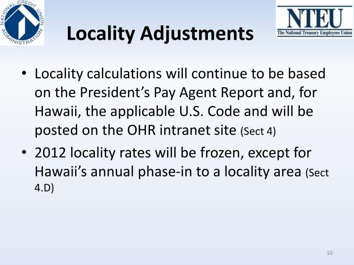 Locality Adjustments
