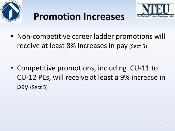 Promotion Increases