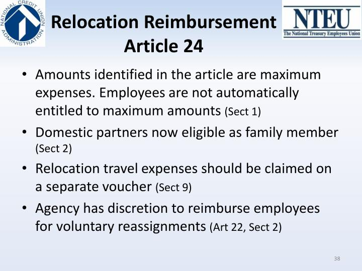 Relocation Reimbursement