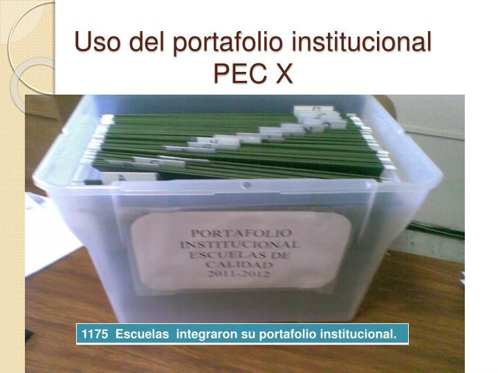 Uso del portafolio institucional