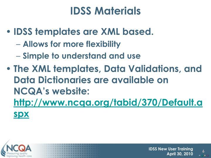 IDSS Materials