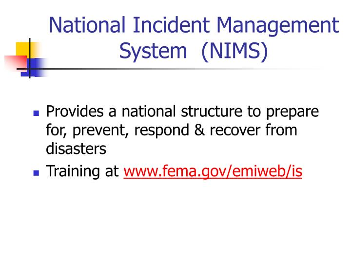 National Incident Management