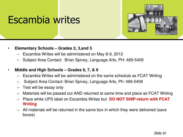 Escambia writes