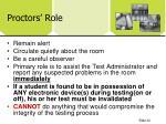 proctors role