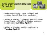 rms daily administration schedule1