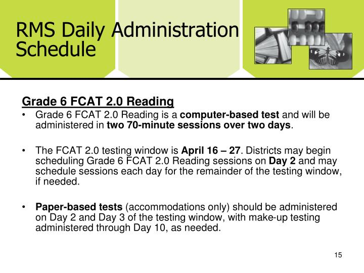 RMS Daily Administration