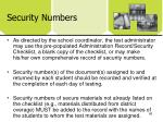 security numbers1