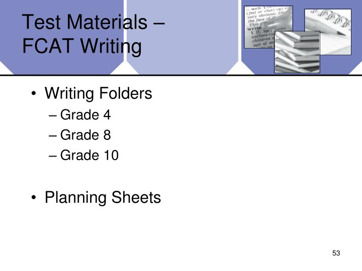 Test Materials –
