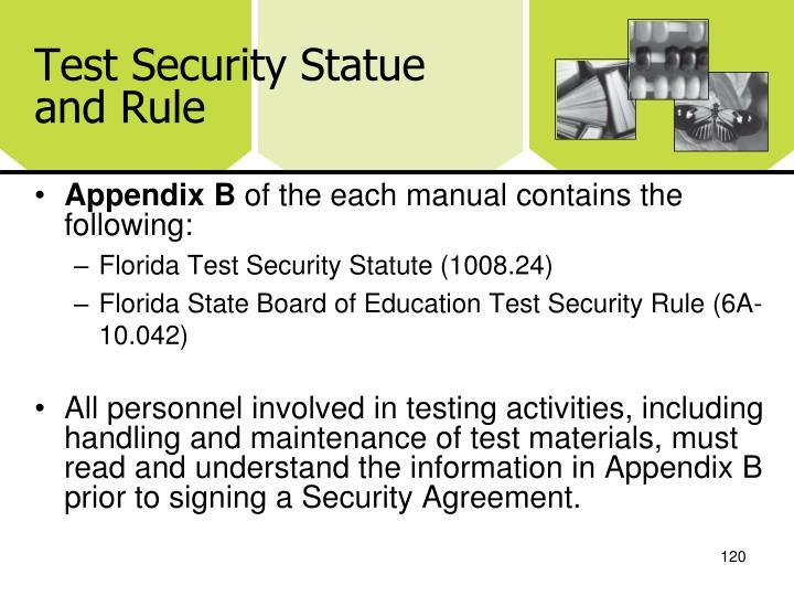 Test Security Statue