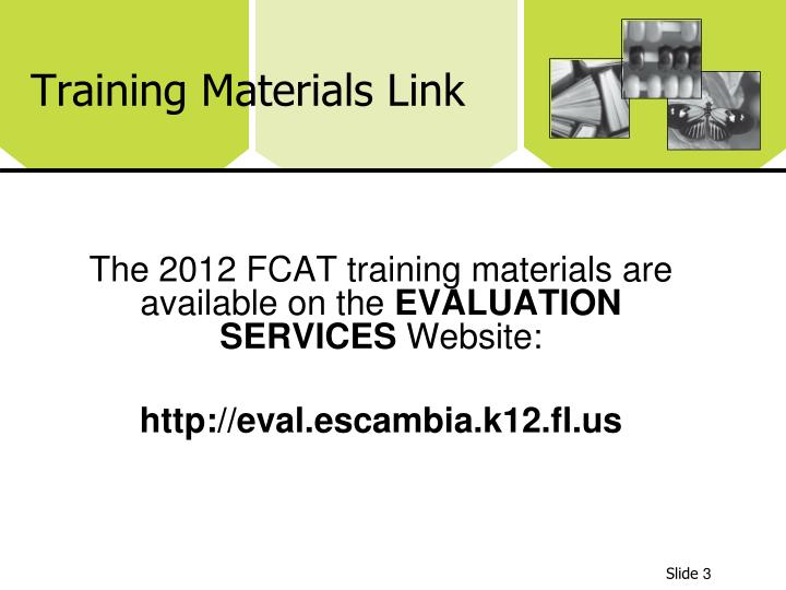 Training Materials Link