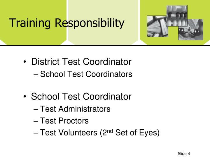 Training Responsibility