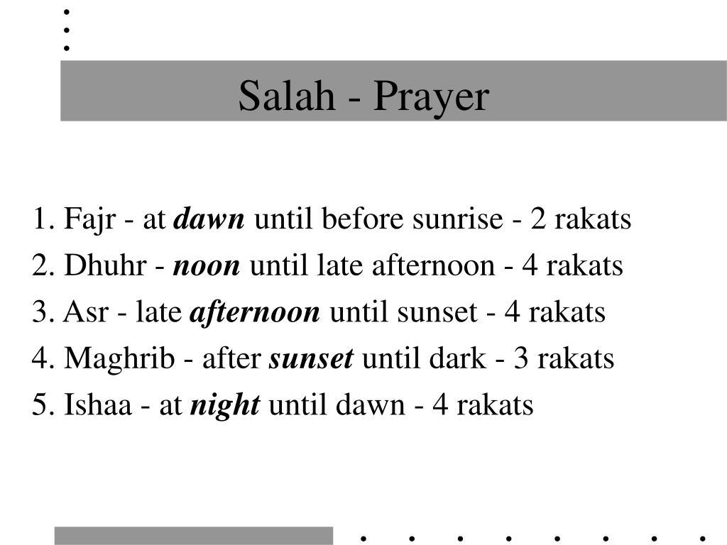 Salah - Prayer