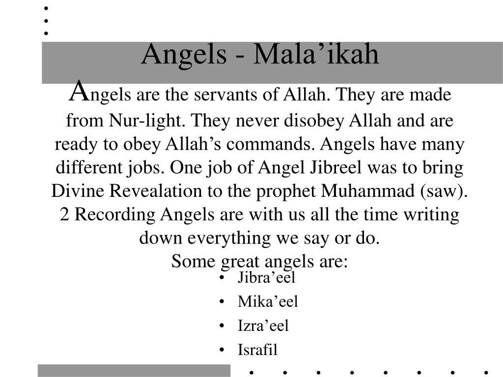 Angels - Mala'ikah