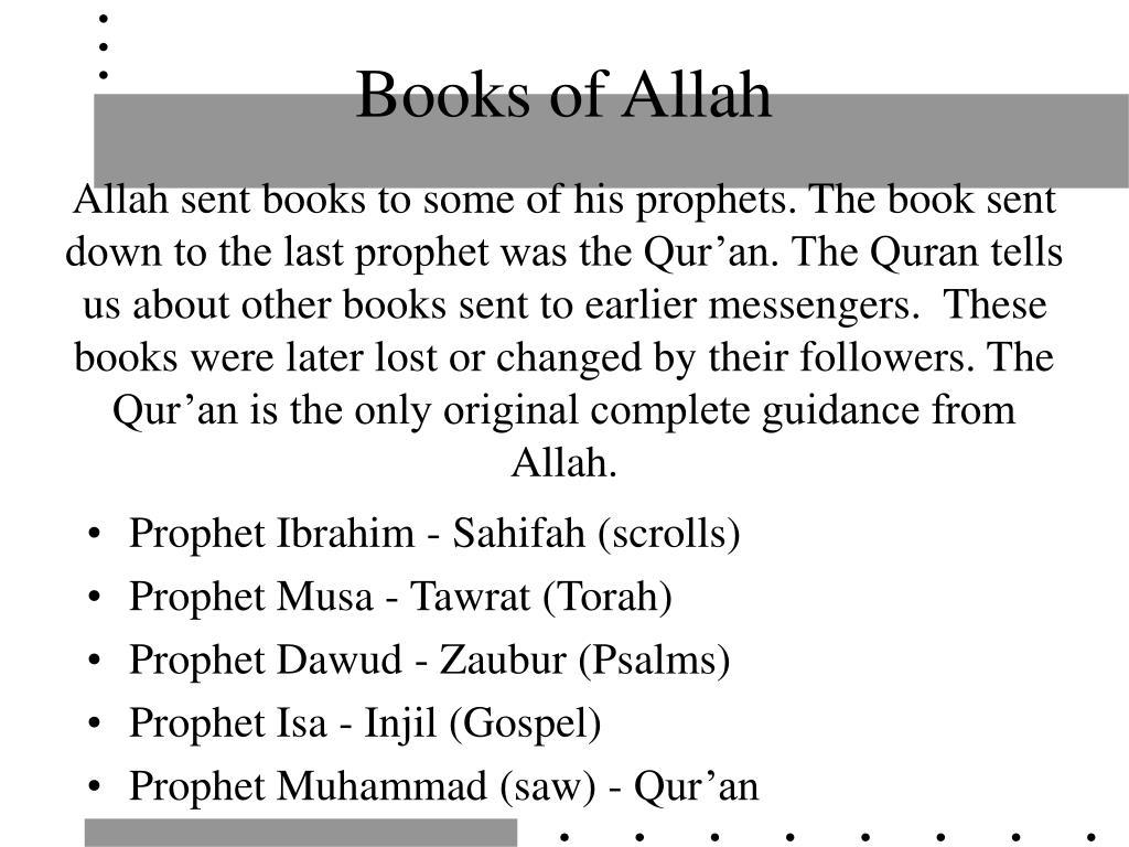 Books of Allah