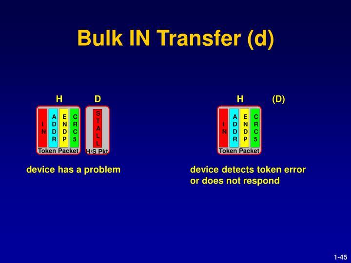 Bulk IN Transfer (d)