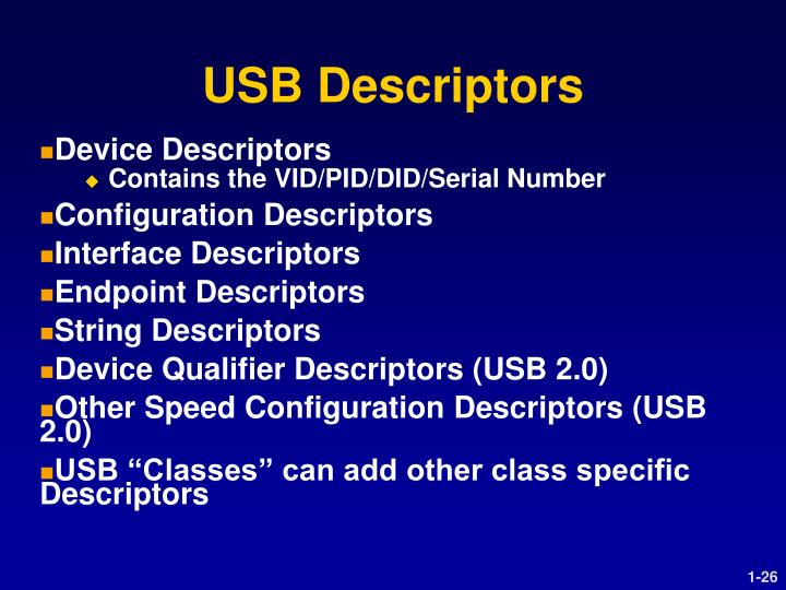 USB Descriptors