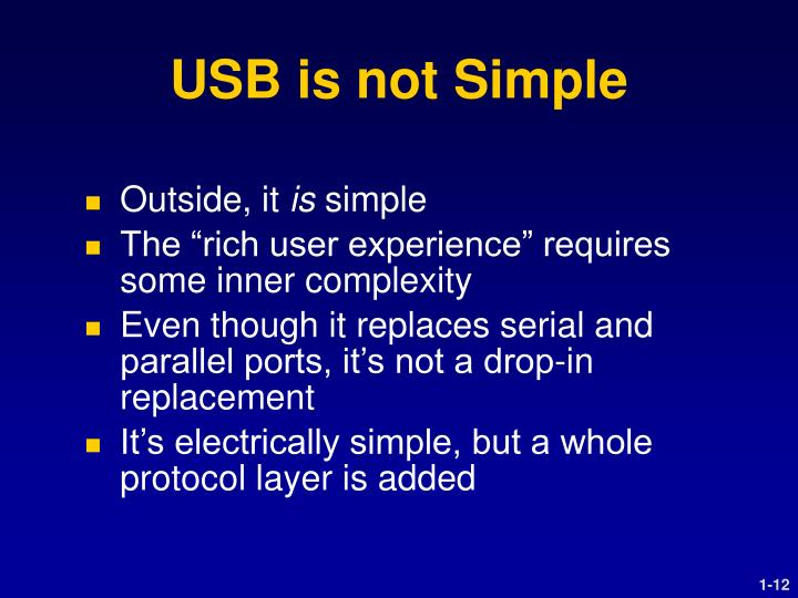 USB is not Simple