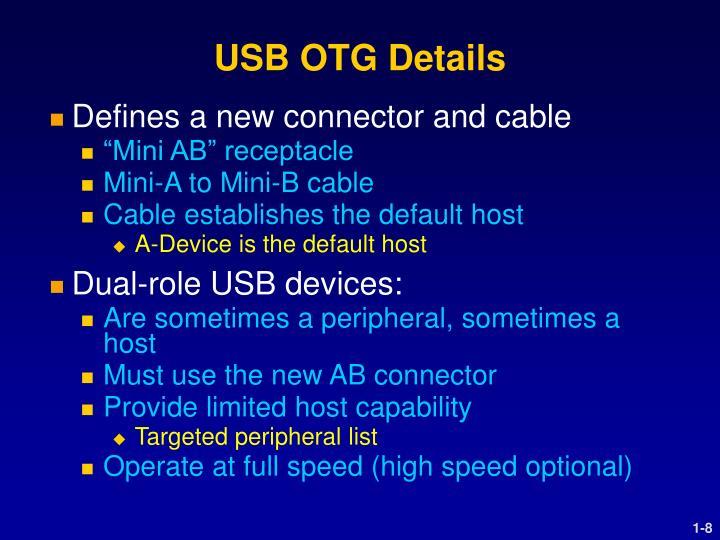 USB OTG Details
