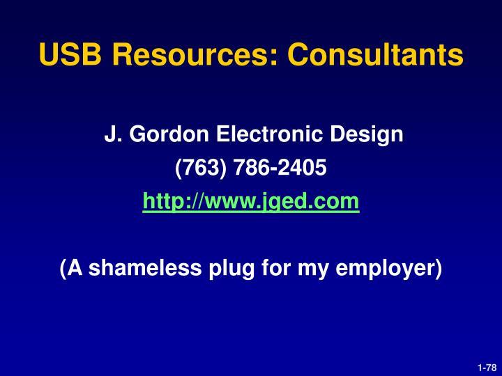 USB Resources: Consultants