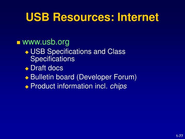 USB Resources: Internet