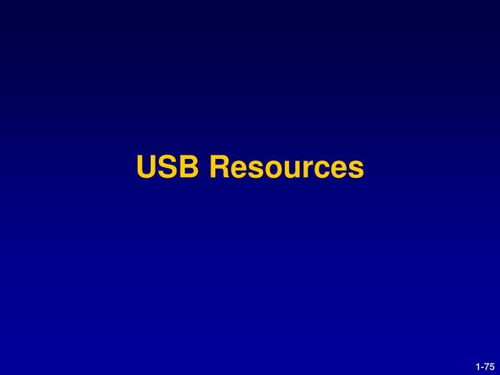 USB Resources