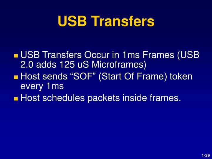 USB Transfers