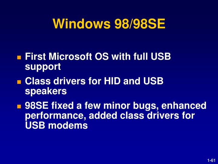Windows 98/98SE