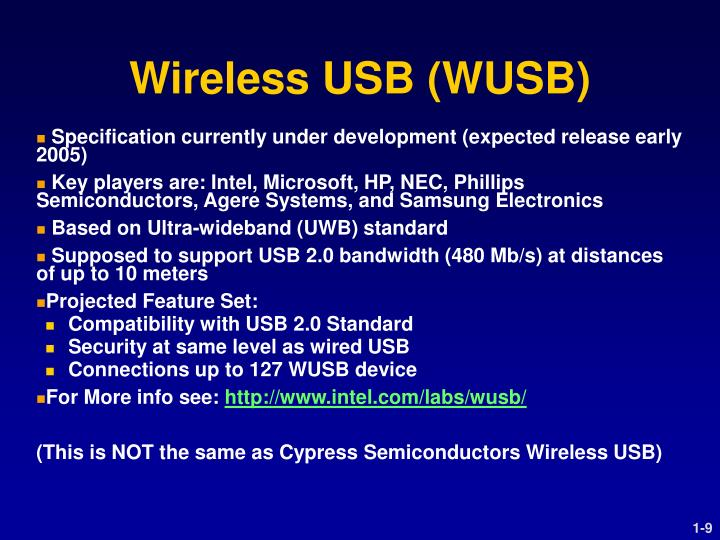 Wireless USB (WUSB)