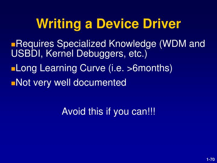 Writing a Device Driver