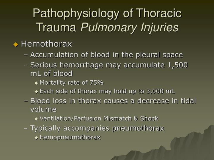 Pathophysiology of Thoracic Trauma