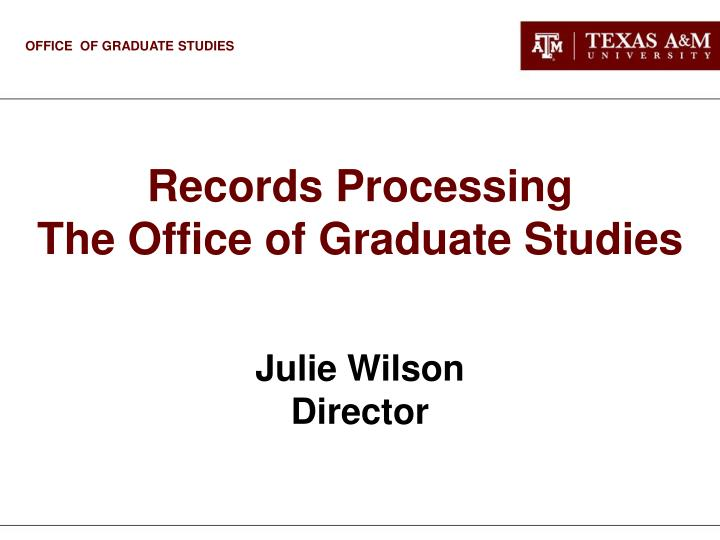 Records Processing