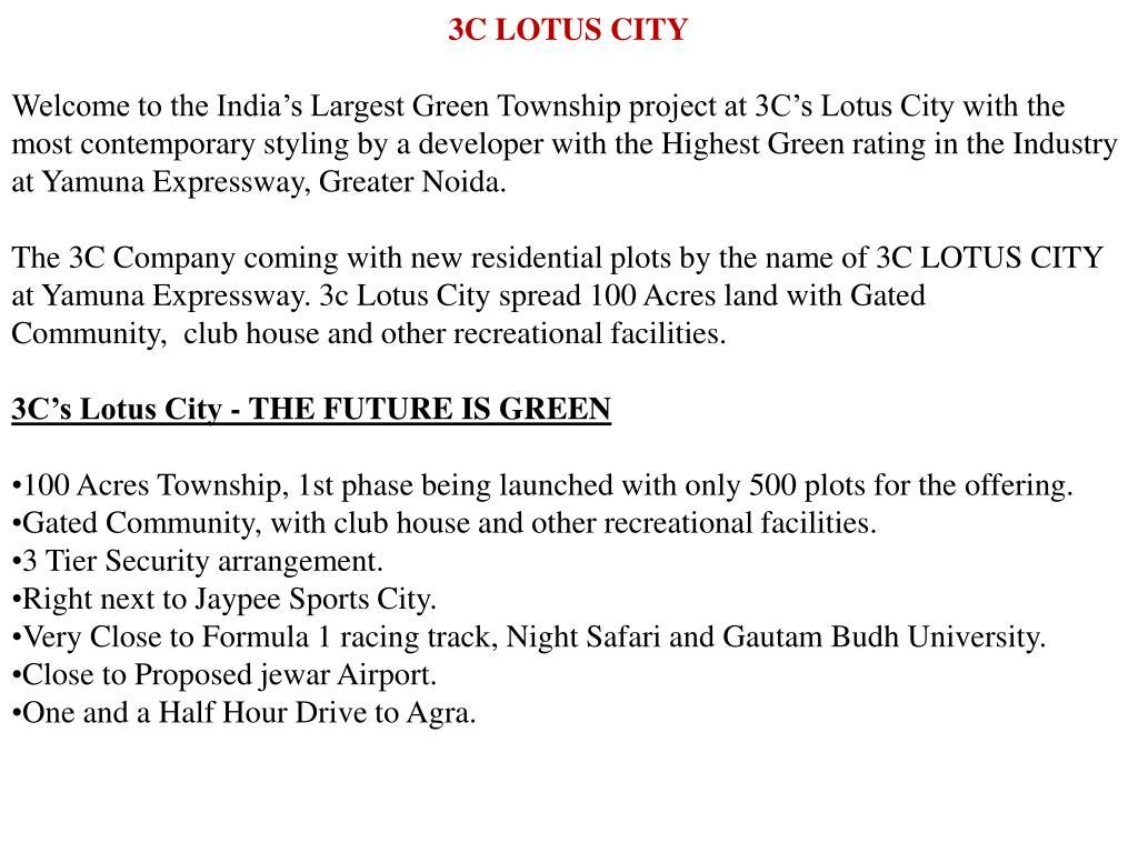 3C LOTUS CITY
