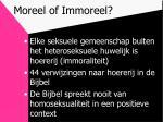 moreel of immoreel