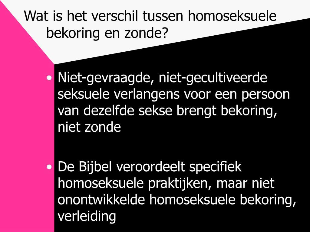 Wat is het verschil tussen homoseksuele