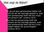 wat zegt de bijbel4