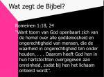 wat zegt de bijbel5