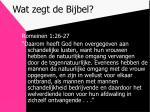 wat zegt de bijbel6