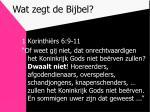wat zegt de bijbel7