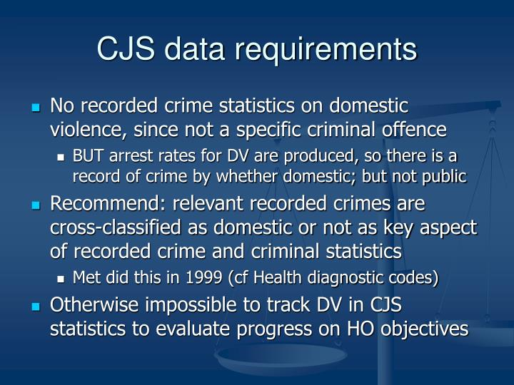 CJS data requirements