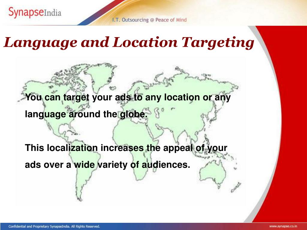 Language and Location Targeting