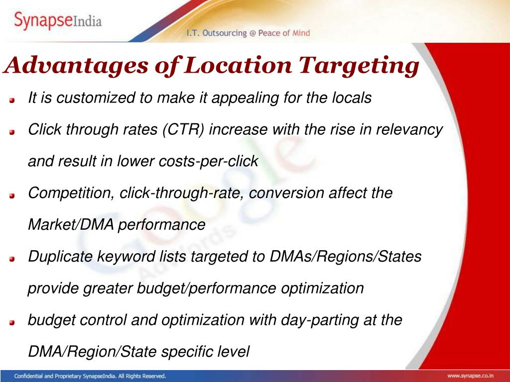 Advantages of Location Targeting