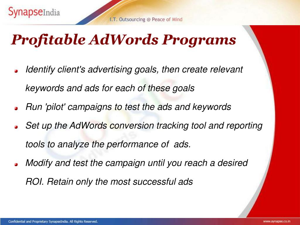 Profitable AdWords Programs
