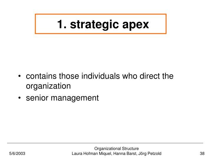 1. strategic apex