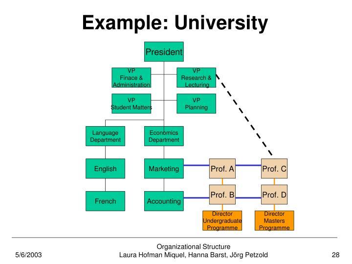 Example: University
