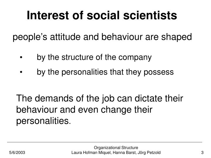 Interest of social scientists