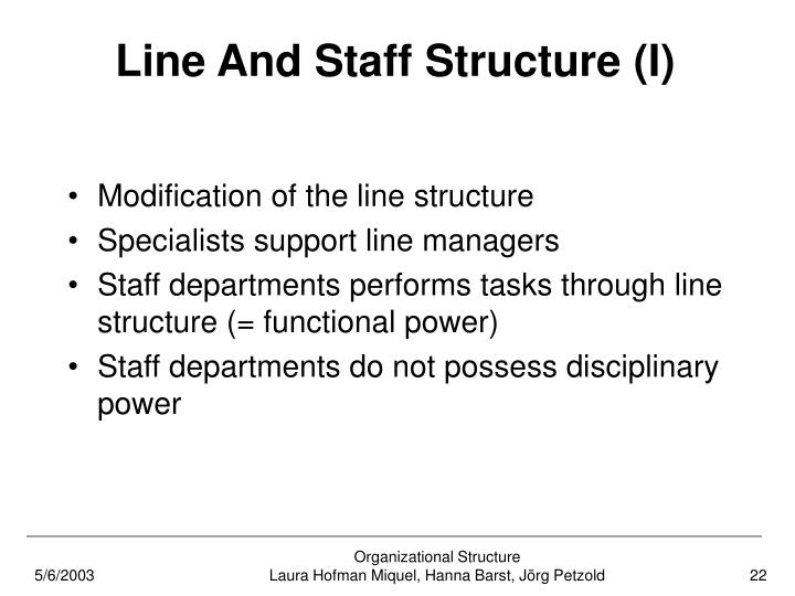 Line And Staff Structure (I)